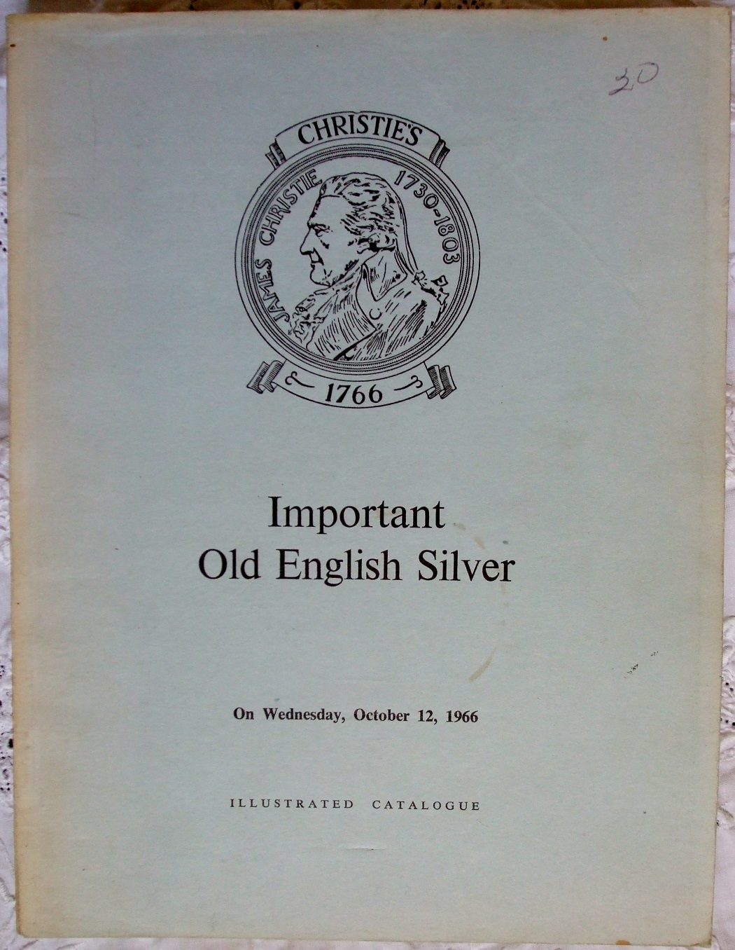 C Important Old English Silver L 12. 10. 1966