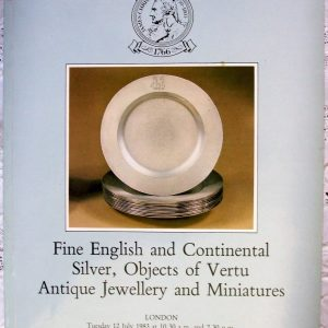 C SUMMER-2705 English & Continental Silver Objects of Vertu Jewellery Miniatures L 12. - 13. 07. 1983
