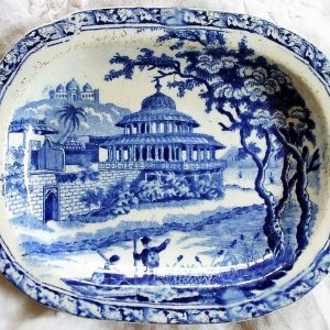 Blue and White Chalees Satoon Dish