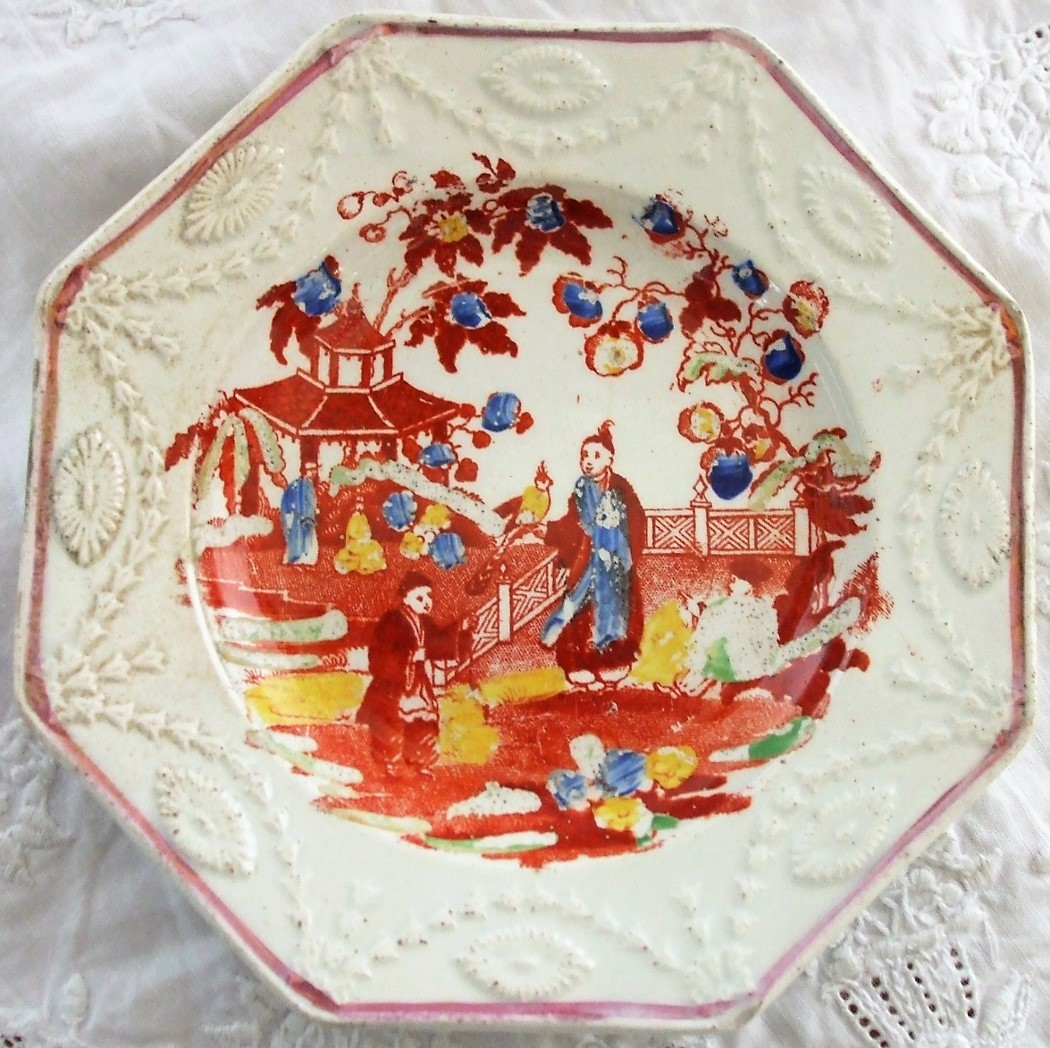 Pair of Chinoiserie Octagonal Plates