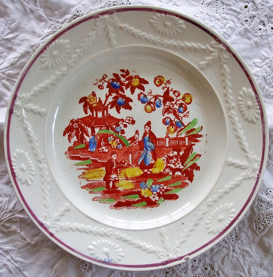 Pair of Chinoiserie Plates