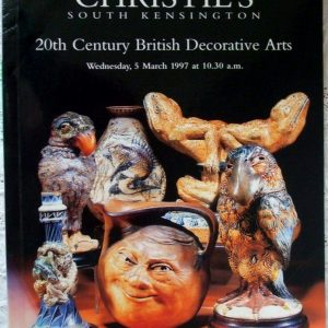 Christies South Kensington 20th Century British Decorative Arts 05 March 1997