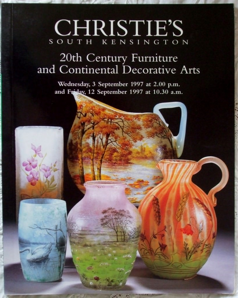 Christies South Kensington 20th Century Furniture And Continental Decorative Arts 03 September1997 And 12 September 1997
