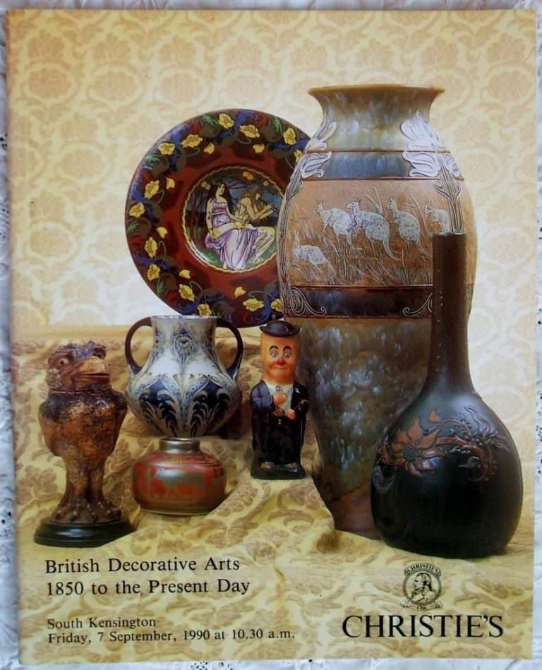 Christies South Kensington British Decorative Arts 1850 To The Present Day 07 September 1990