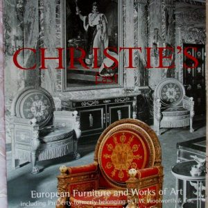 Christies European Furniture And Works Of Art The Woolworth Building New York City 26 September 2000