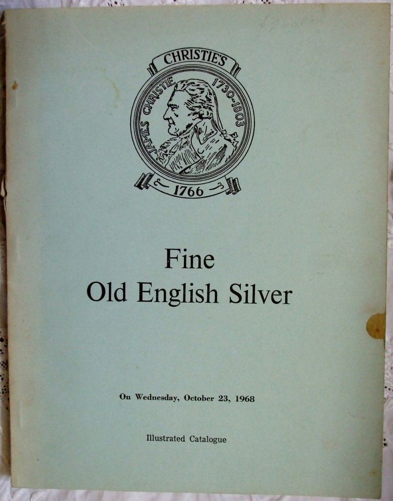 Christies Fine Old English Silver 23 October 1968