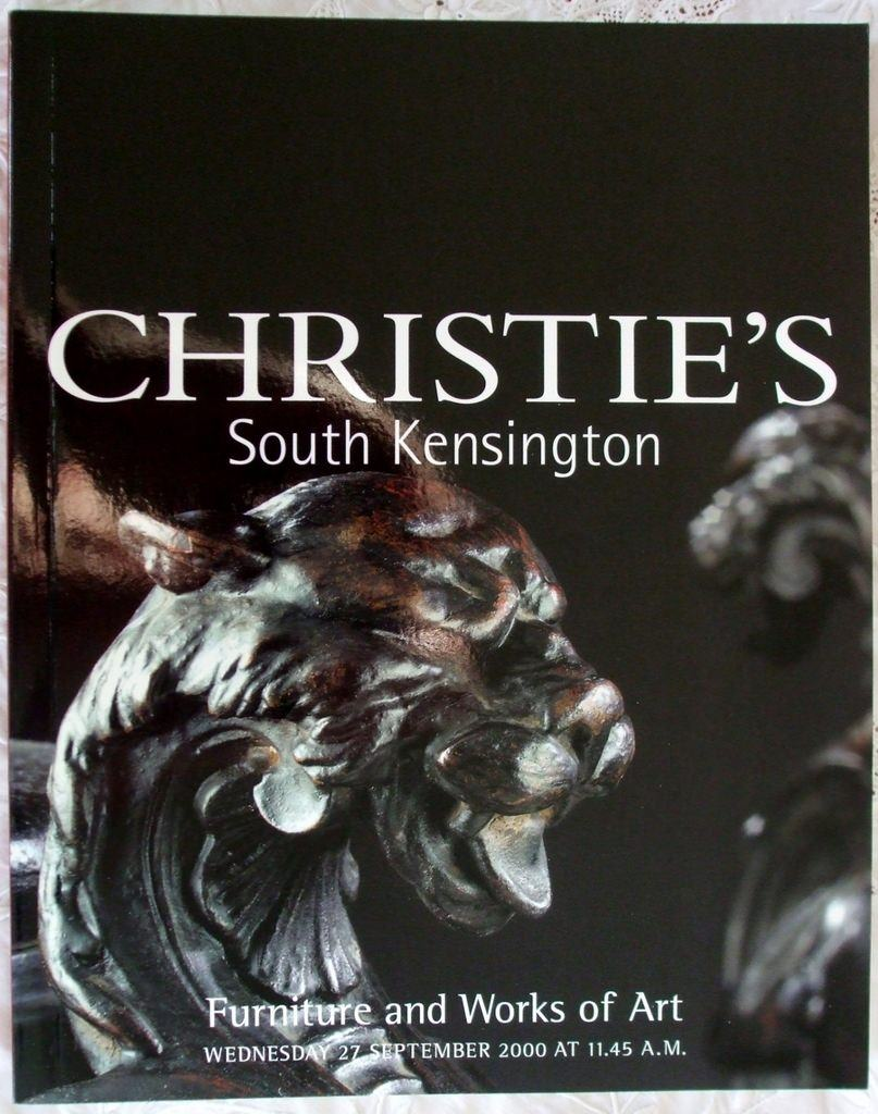 Christies South Kensington Furniture And Works Of Art 27 September 2000