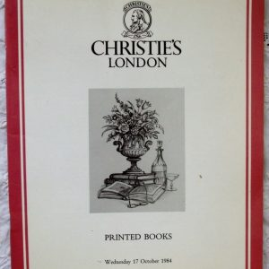 Christies Printed Books 17 October 1984