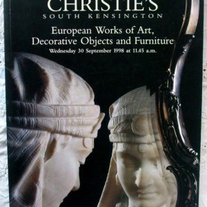 ChristiesSouth Kensington European Works Of Art Decorative Objects Furniture 30 September 1998