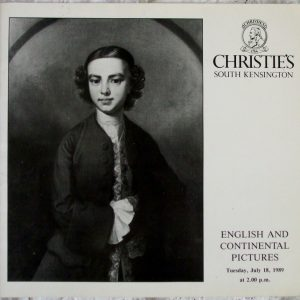 Christies South Kensington English and Continental Pictures 18 July 1989