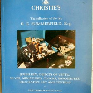 Christies The RE Summerfield Collection Volume I Cheltenham Racecourse 23-24 October 1989