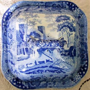 Blue and White Castle Tureen and Cover James and Ralph Clews