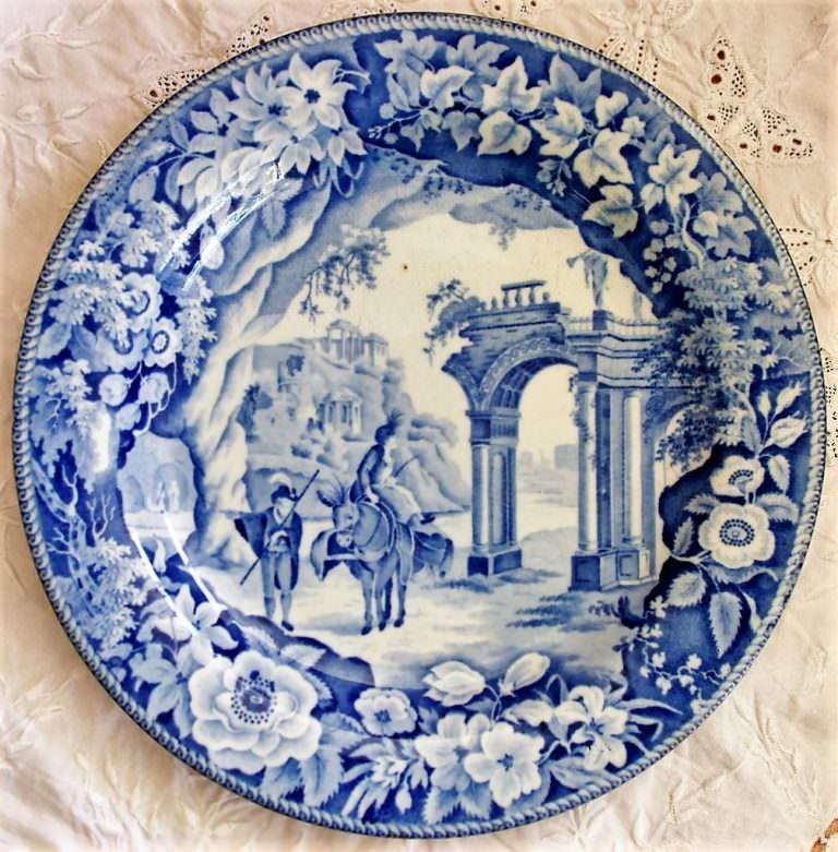 Blue and White Romantic Ruins Plate James and Ralph Clews