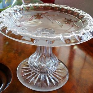 Cut Glass Tazza