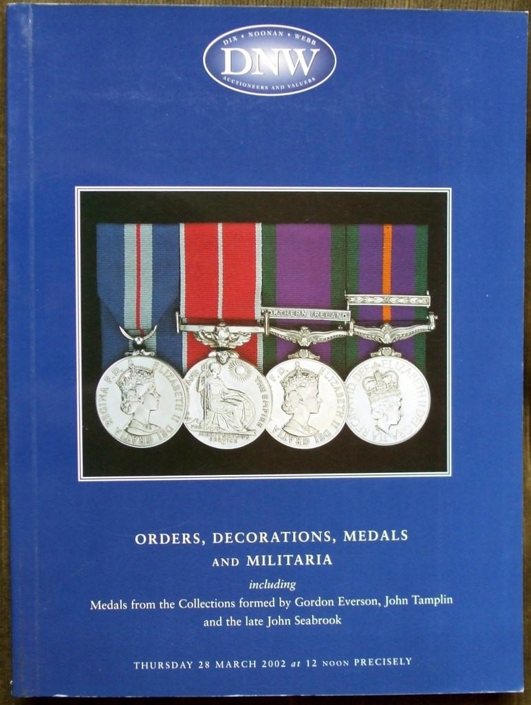Dix Noonan Webb Orders Decorations Medals And Militaria 28 March 2002
