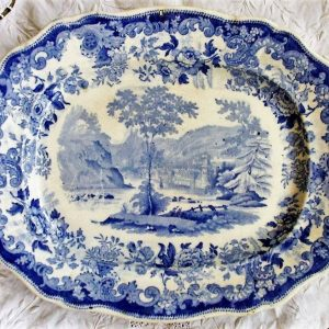 Blue and White Serving Dish Davenport