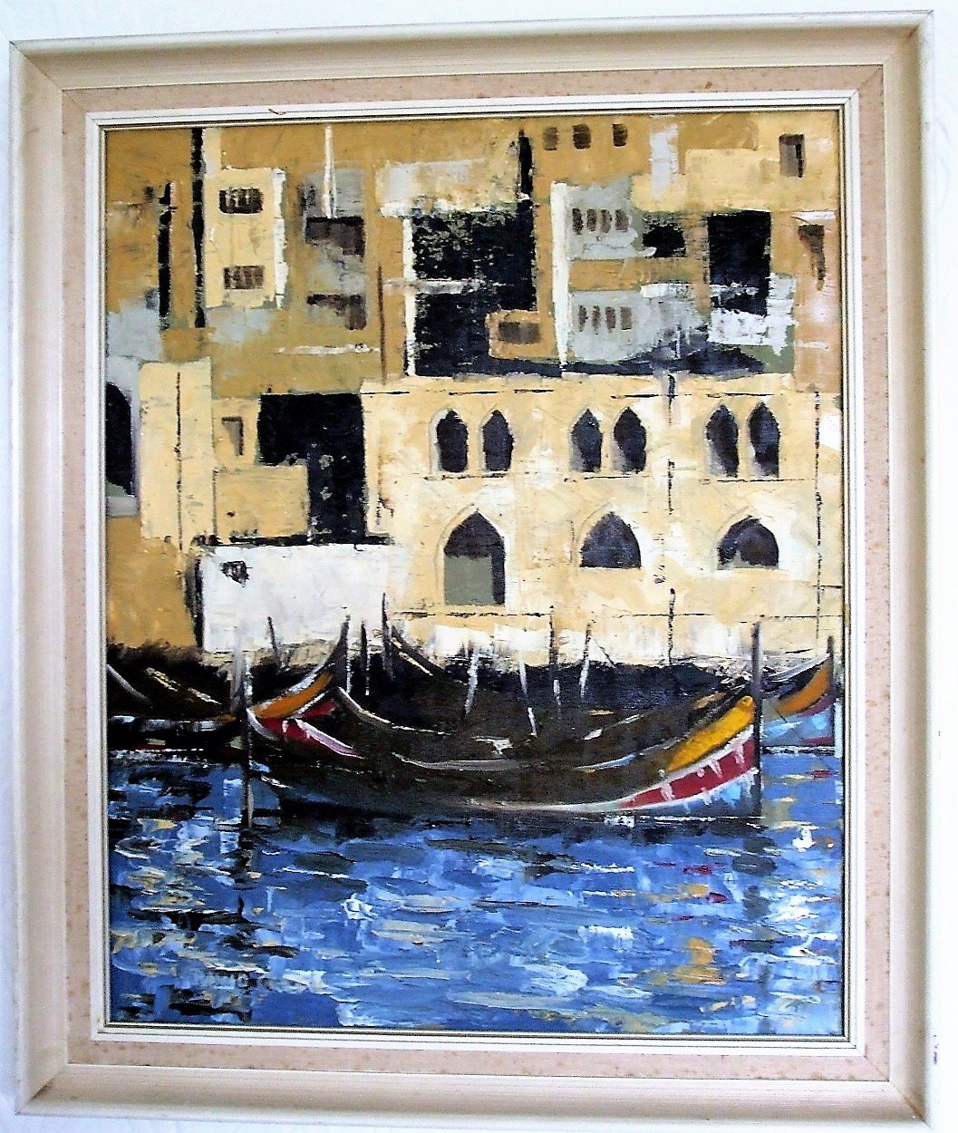 David Green Framed Oil on canvas Venice