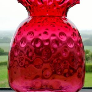 Cranberry Glass Heater Lamp Shade