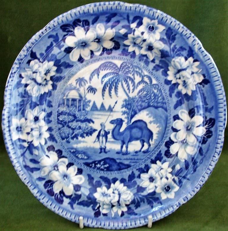 Blue and White Dromedary Plate