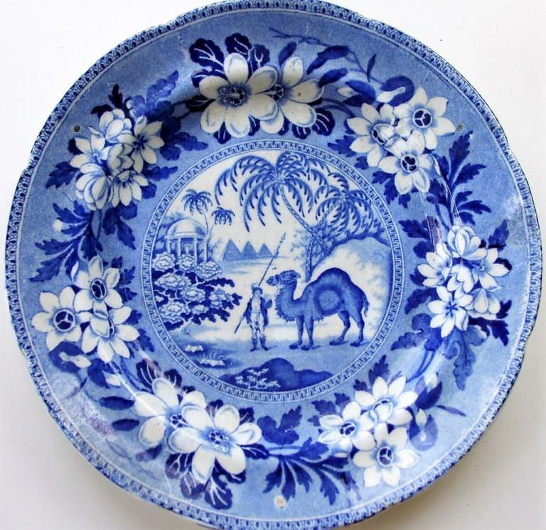 Blue and White Dromedary Tea Plate