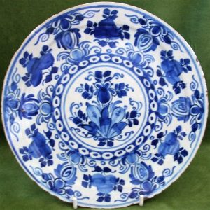 Blue and White Dutch Delft Plate