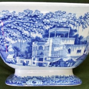 Blue and White Eastern Street Scene Bowl Riley