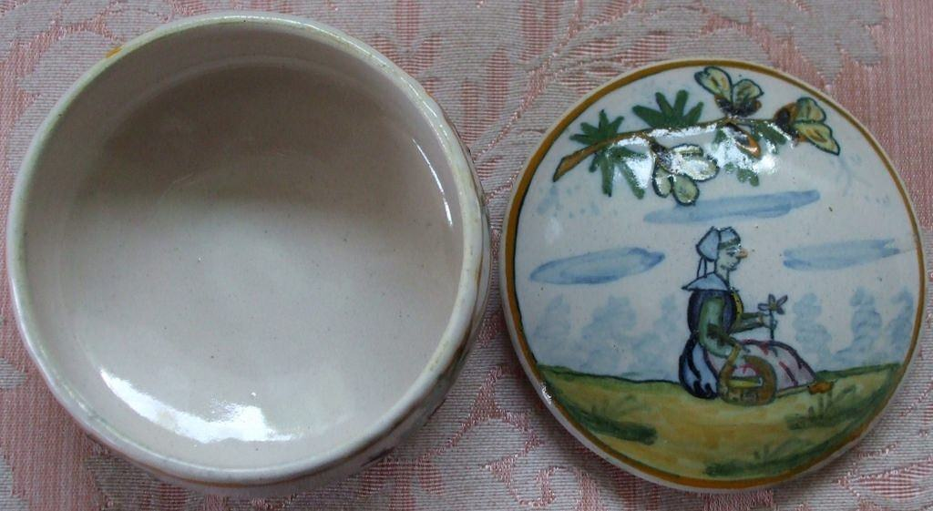 Henriot Quimper Faience Box And Cover