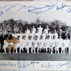 Kent County Cricket Team 1985 Autographed