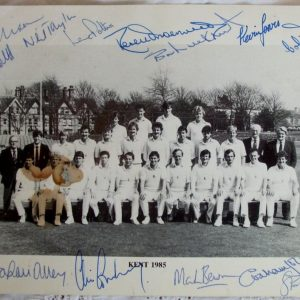 Kent County Cricket Team 1985 Autographed Photograph