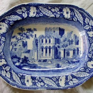 Blue and White Lanercost Priory Dish