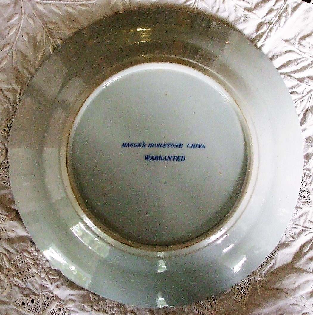 Mason's Ironstone Blue & White Willow Plate