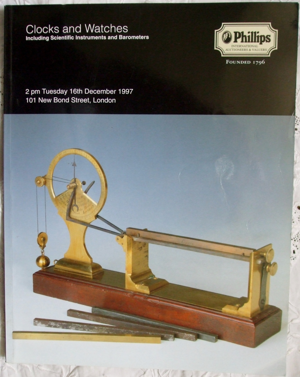 Phillips Clocks and Watches Scientific Instruments Barometers London 16. 12. 1997