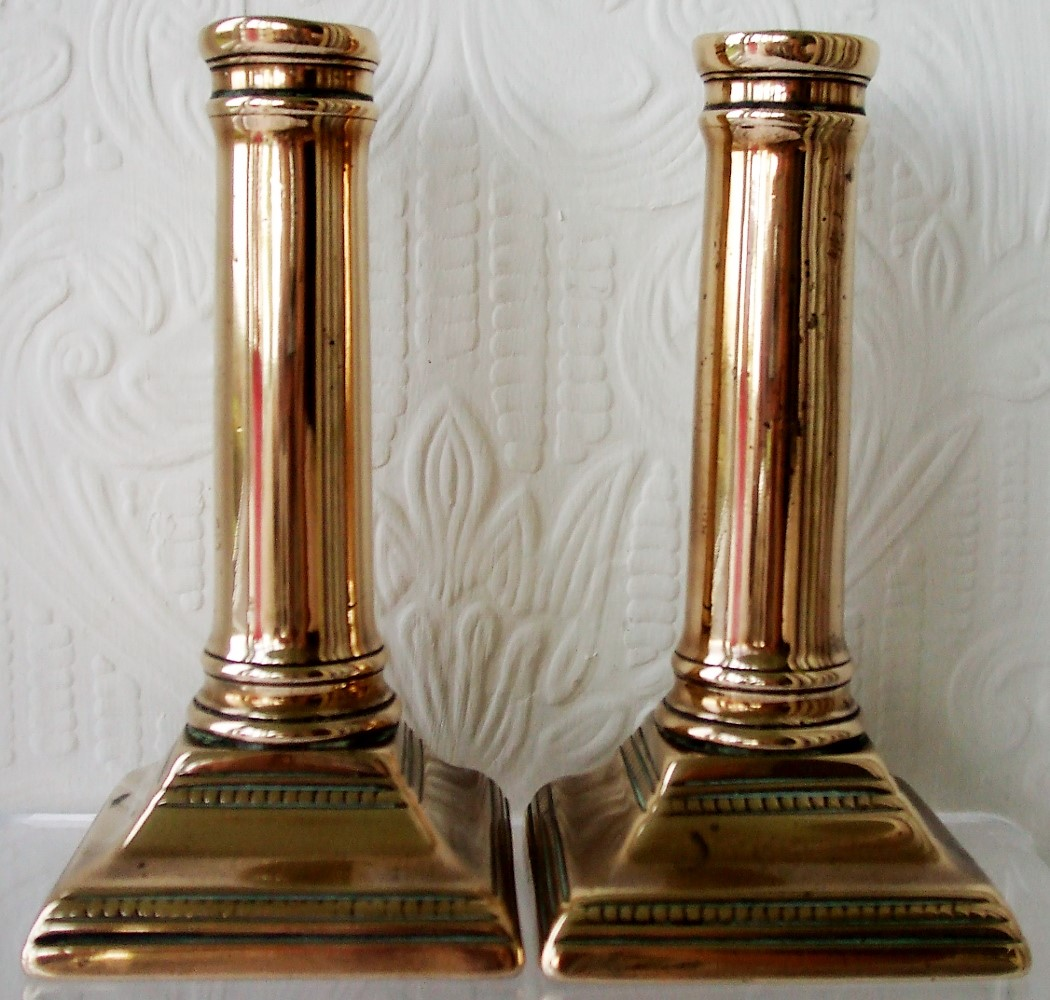 Pair of Georgian Brass Candlesticks