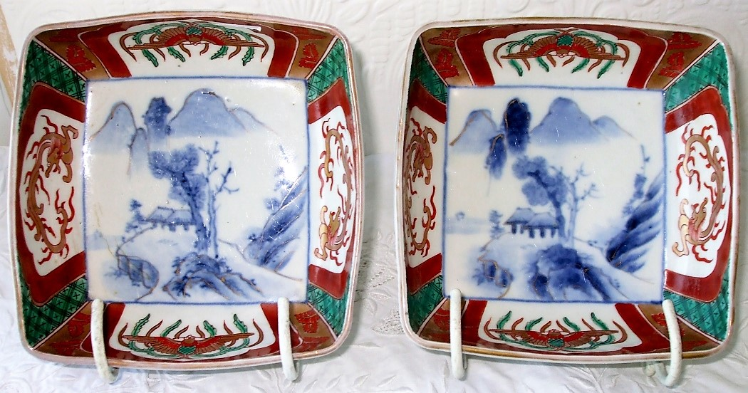 Pair of Imari Dishes
