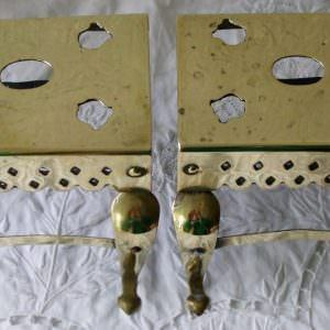 Pair of Miniature Brass Footmen