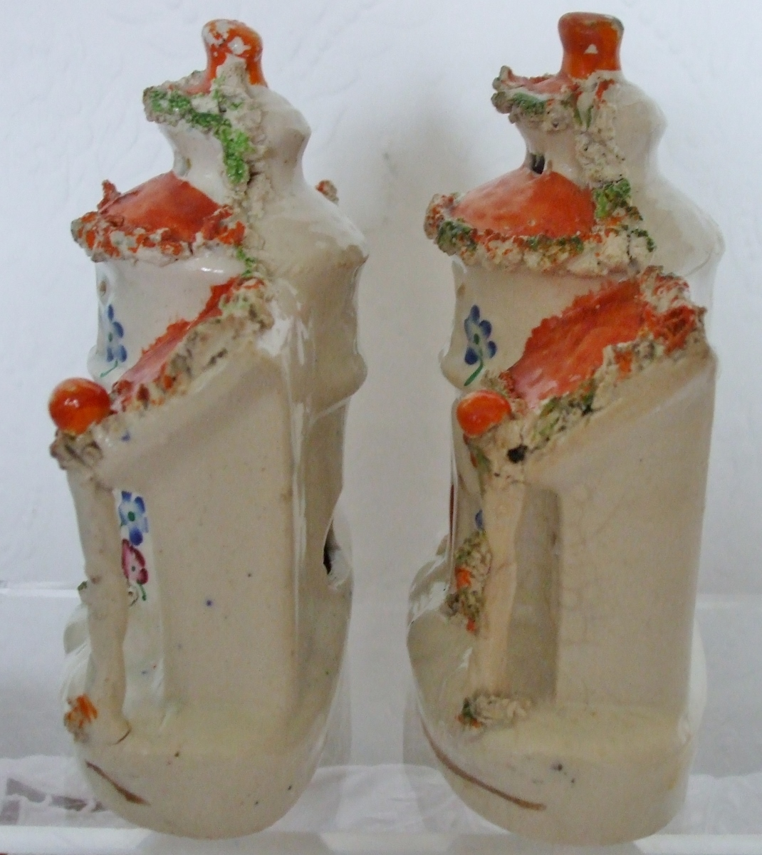Pair of Staffordshire Pastille Burners H 3265