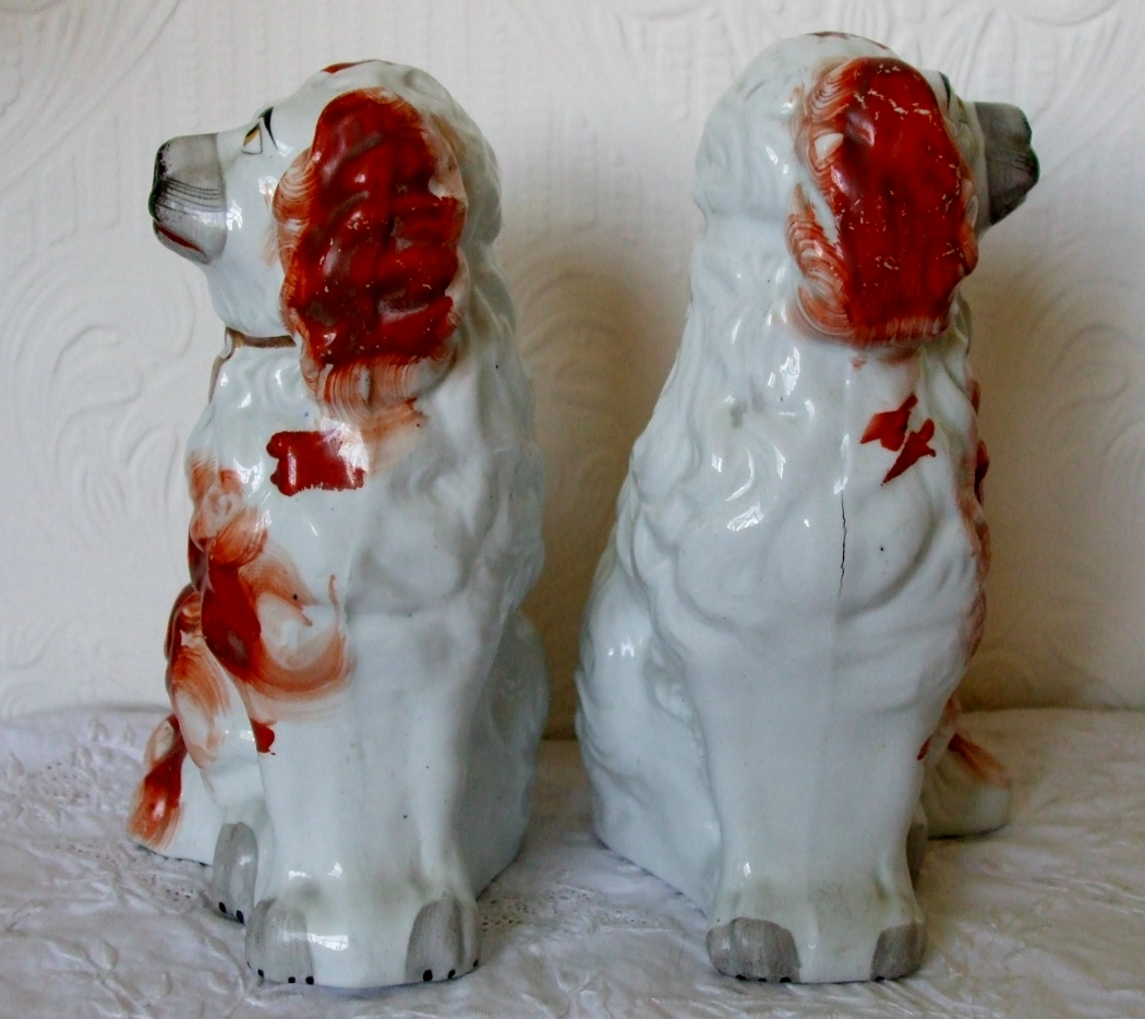 Pair of Staffordshire Spaniels H 2422 H 2423