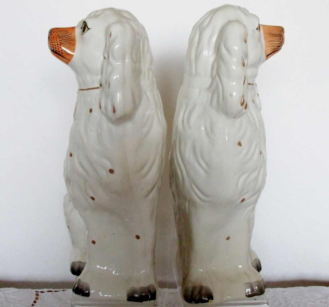 Pair of Staffordshire Spaniels H 2416 H 2417
