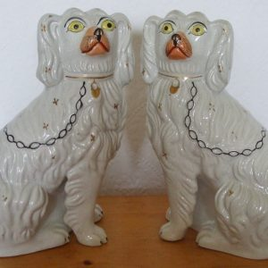 Pair of Staffordshire Spaniels H 2473A H 2473B