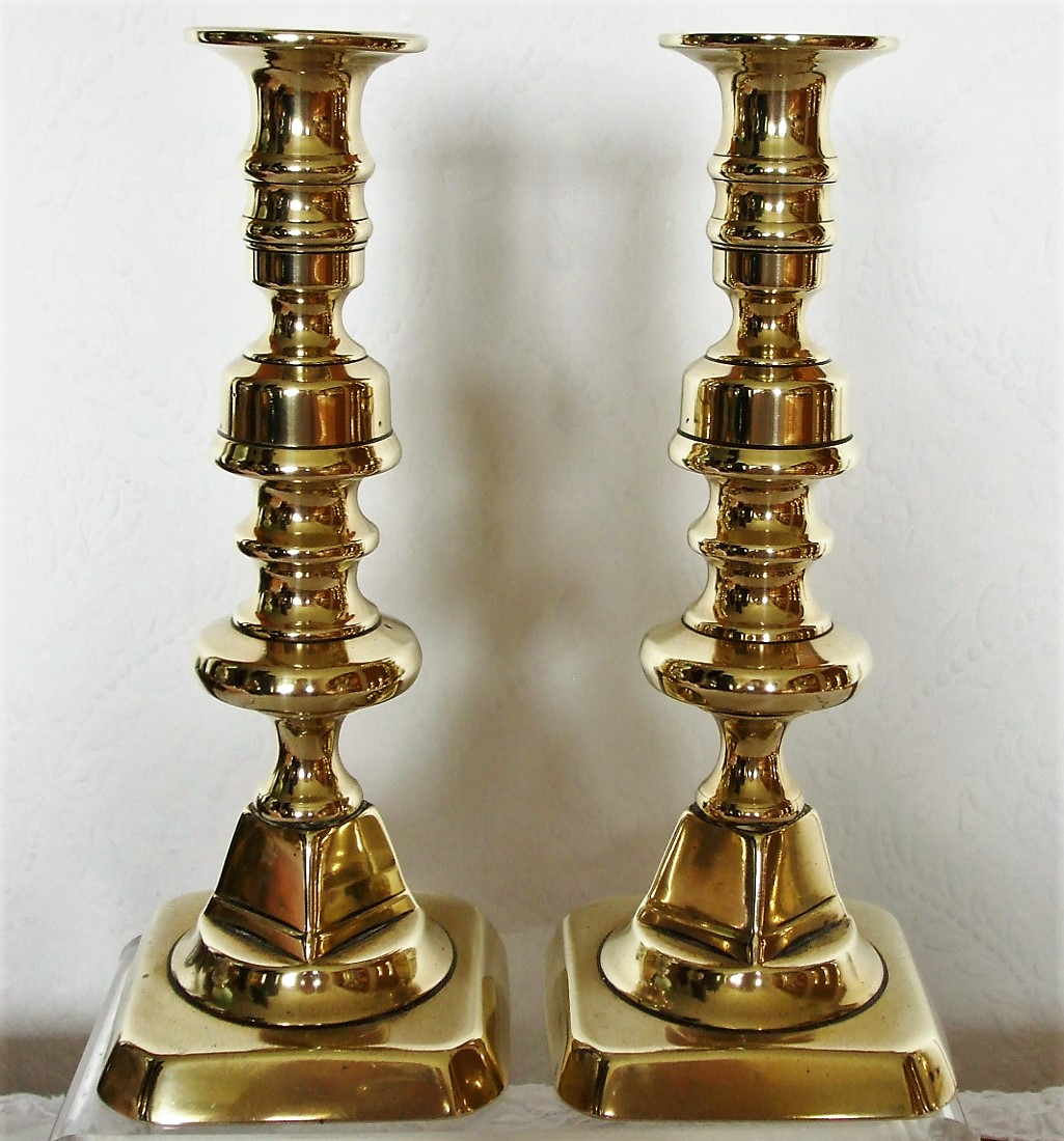 Pair of Victorian Brass Candlesticks