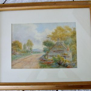 Framed Pastoral Watercolour Harrison