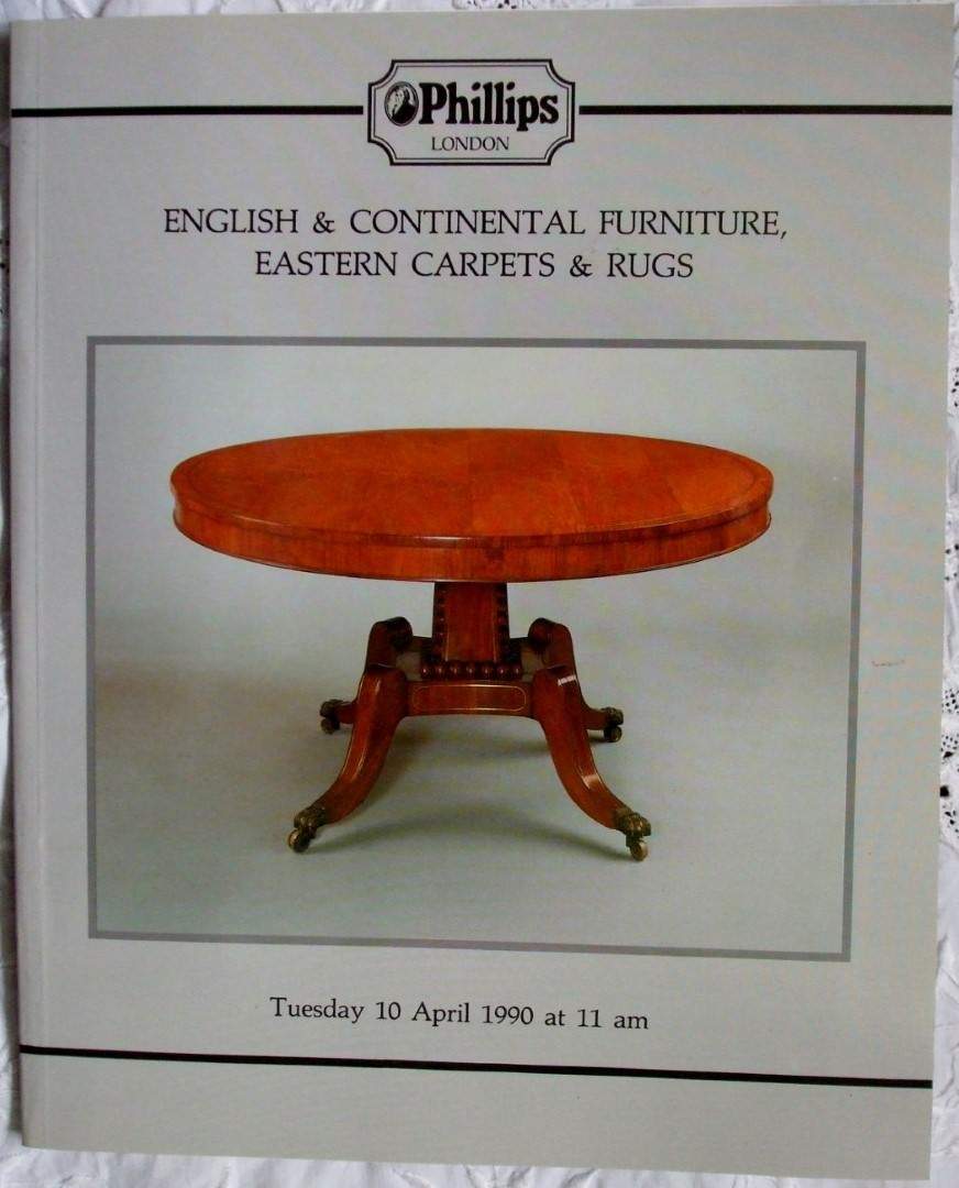 Phillips English And Continental Furniture Eastern Carpets Rugs 10 April 1990