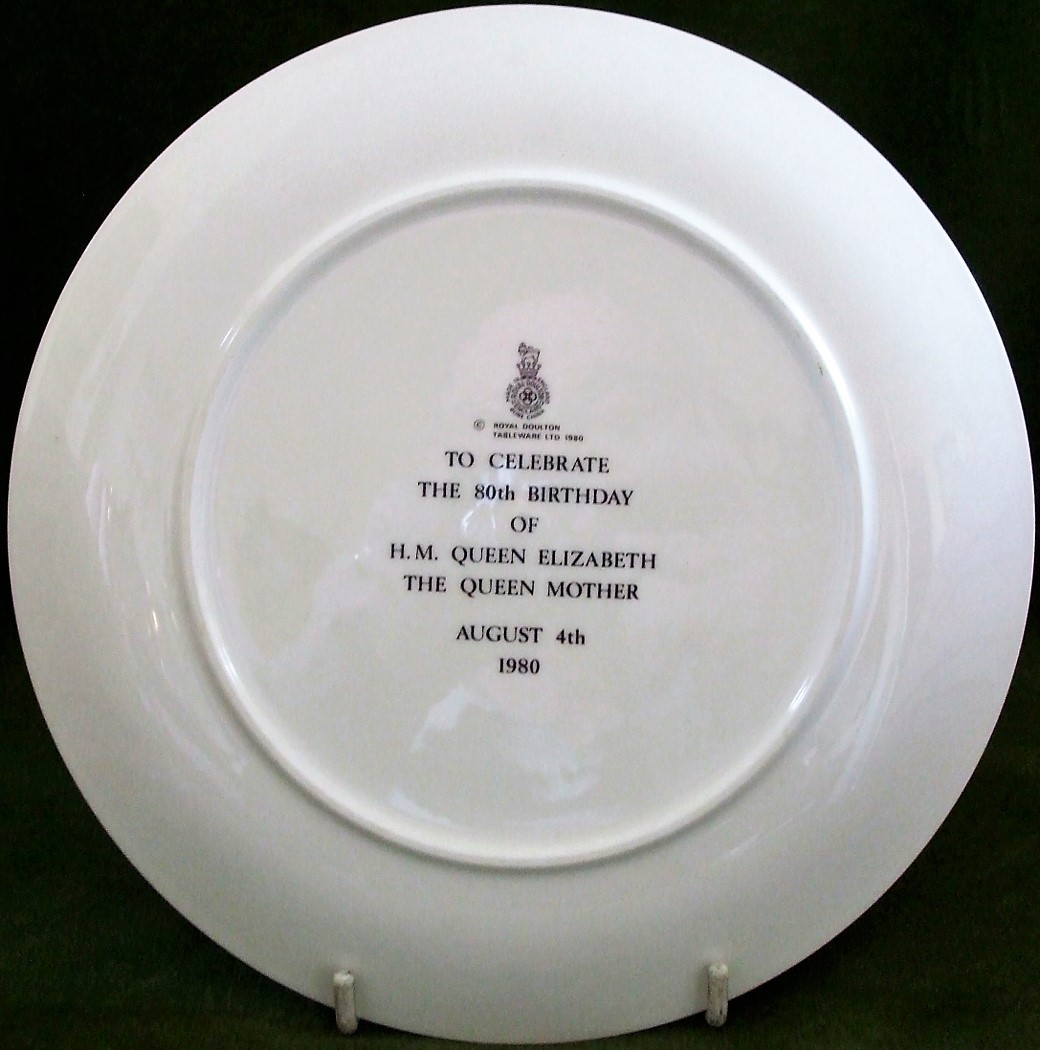 Royal Doulton Queen Mother 80th Birthday Commemorative Plate