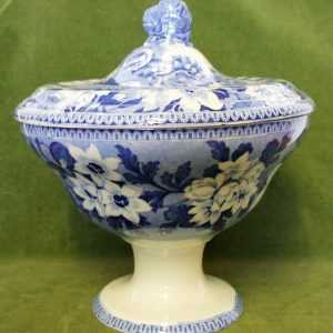 Blue and White Rogers Elephant Tureen and Cover