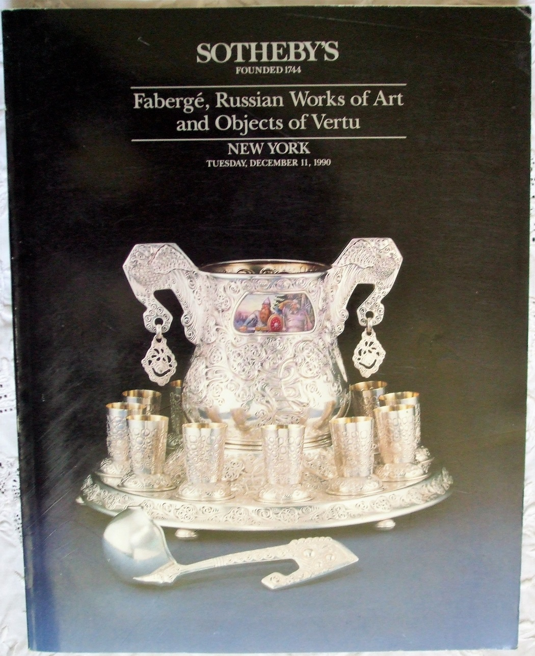 S 6115 OLEG Faberge Russian Works of Art NY 11. 12. 1990