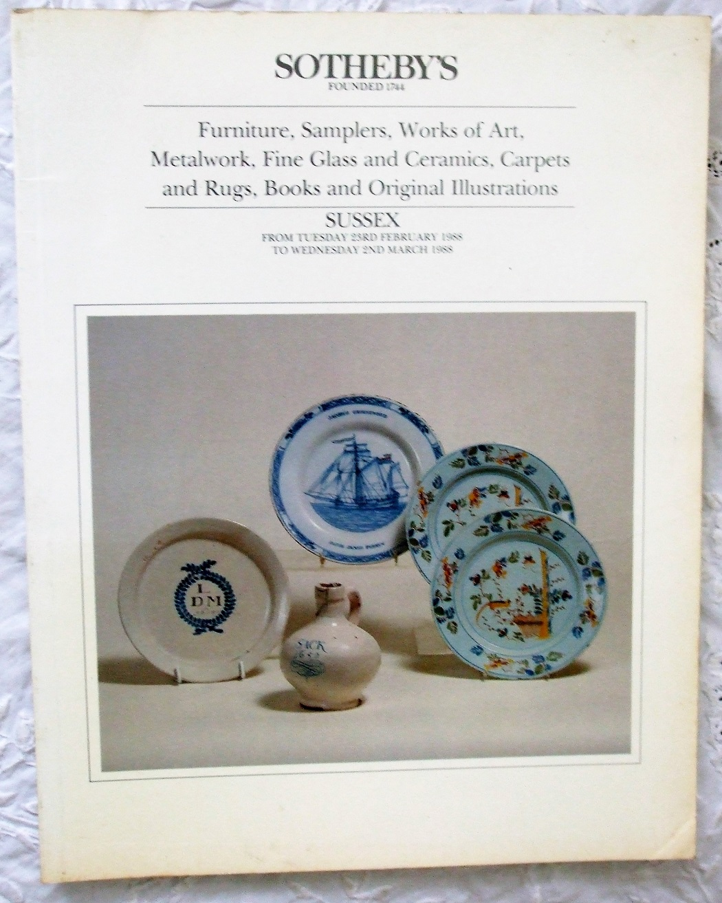 S Antiques and Collectables S 23. 02. to 02. 03. 1988
