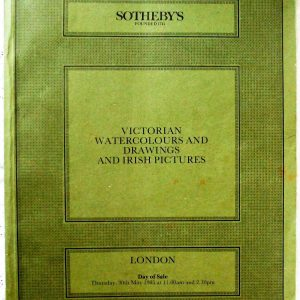 S FERGUS Victorian Watercolours and Drawings and Irish Pictures L 30. 05. 1985