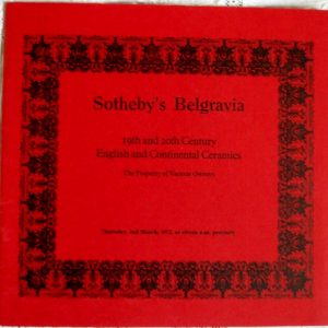 Sothebys Belgravia English and Continental Ceramics 02 March 1972