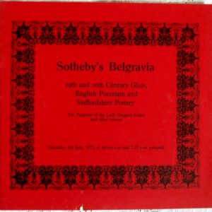 Sothebys Belgravia Glass and English Ceramics 06 July 1972