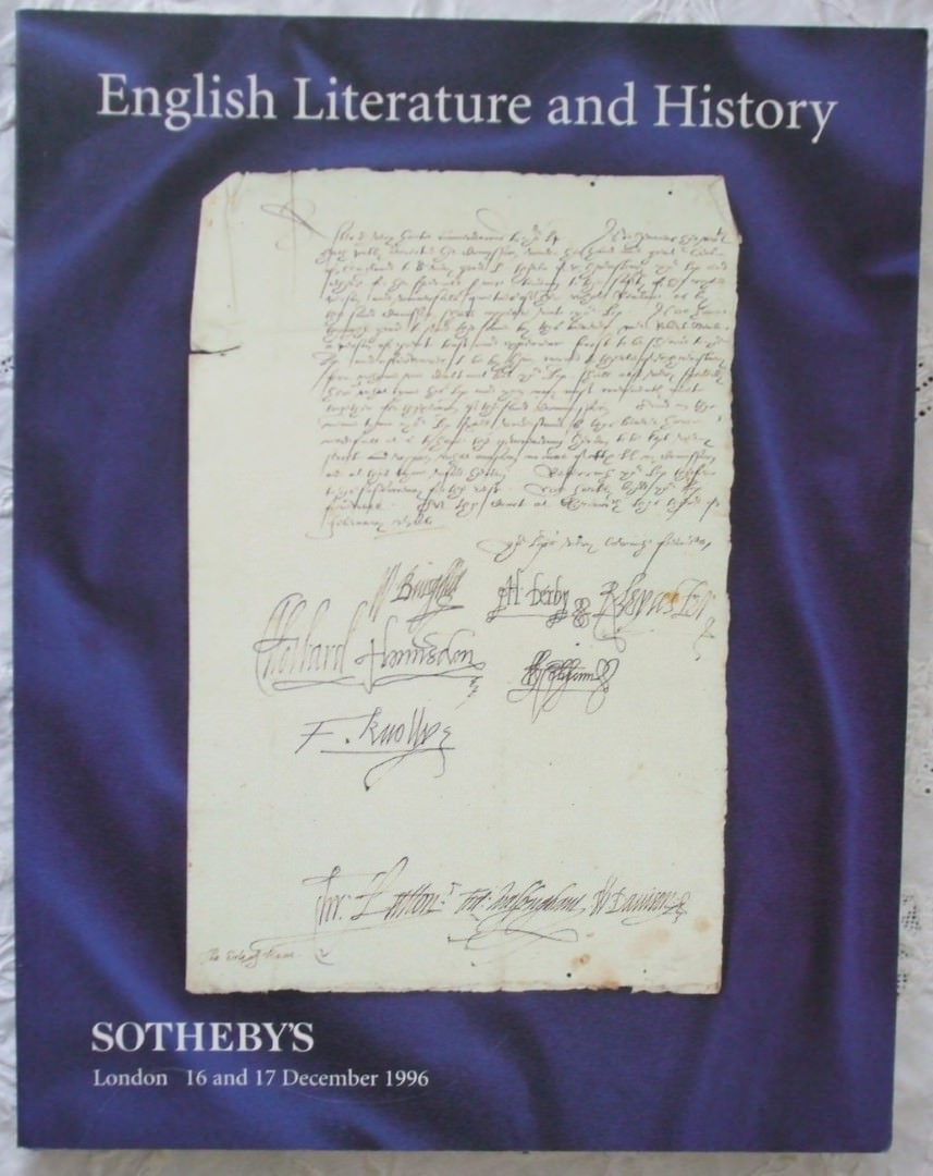 Sothebys English Literature And History 16-17 December 1996